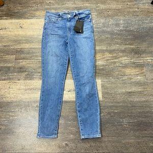 Light Wash Paige Hoxton Crop Jeans